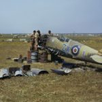 Wreckage of Spitfire Mk IX, EN459 ZX-1 from PFT, Tunisia, April 1943