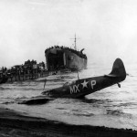 Spitfire Mk Vc trop MX-P JK707 307th Fighter Squadron shot down by US Navy fire off Salerno Italy 1943