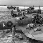 Spitfire V trop of RAF 253 Squadron and 32 Squadron 1944 Italy 1944