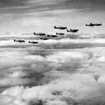 Spitfire Vb of the 67th Tactical Reconnaissance Group in flight England