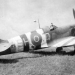 Spitfire of No. 64 Squadron RAF with Invasion Stripes Normandy June 1944