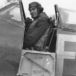 Wing Commander A. G. Malan DSO DFC in Spitfire 1941 leading the Biggin Hill wing