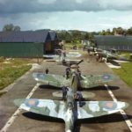 Spitfire, F4U Corsair and Barracudas at HMS Fledgling
