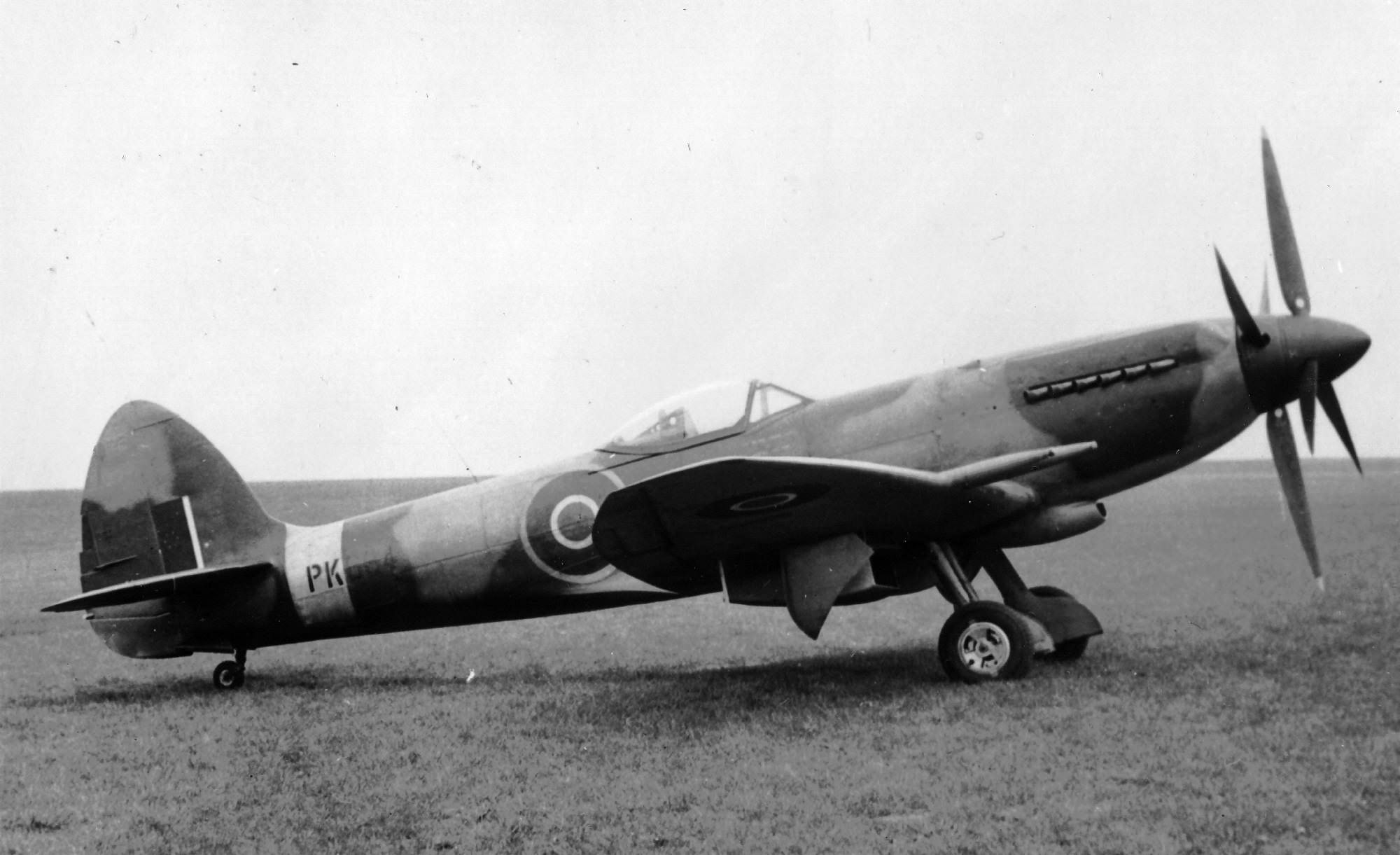 Spitfire Mk24 serial PK684 on the ground