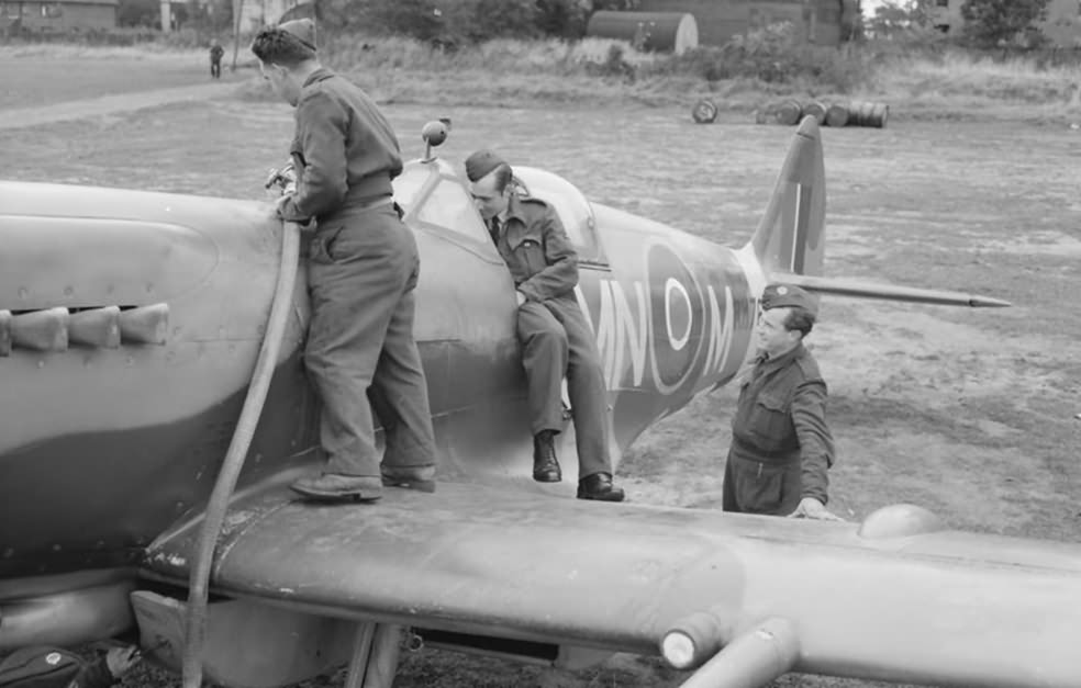 Spitfire Mk XIVe RM764, code MN-M of No. 350 (Belgian) Squadron RAF at Lympne