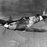 Spitfire Mk V AF-O of Air Fighting Development Unit in flight
