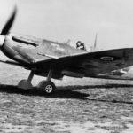 "Spitfire LF Mk Vb BM271 SK-E ""Kenya Daisy"" of No. 165 Squadron RAF at Gravesend, 16 October 1942"