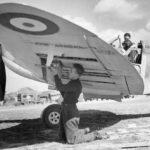 Spitfire Mk Ia X4474 QV-I of No 19 Squadron at Fowlmere