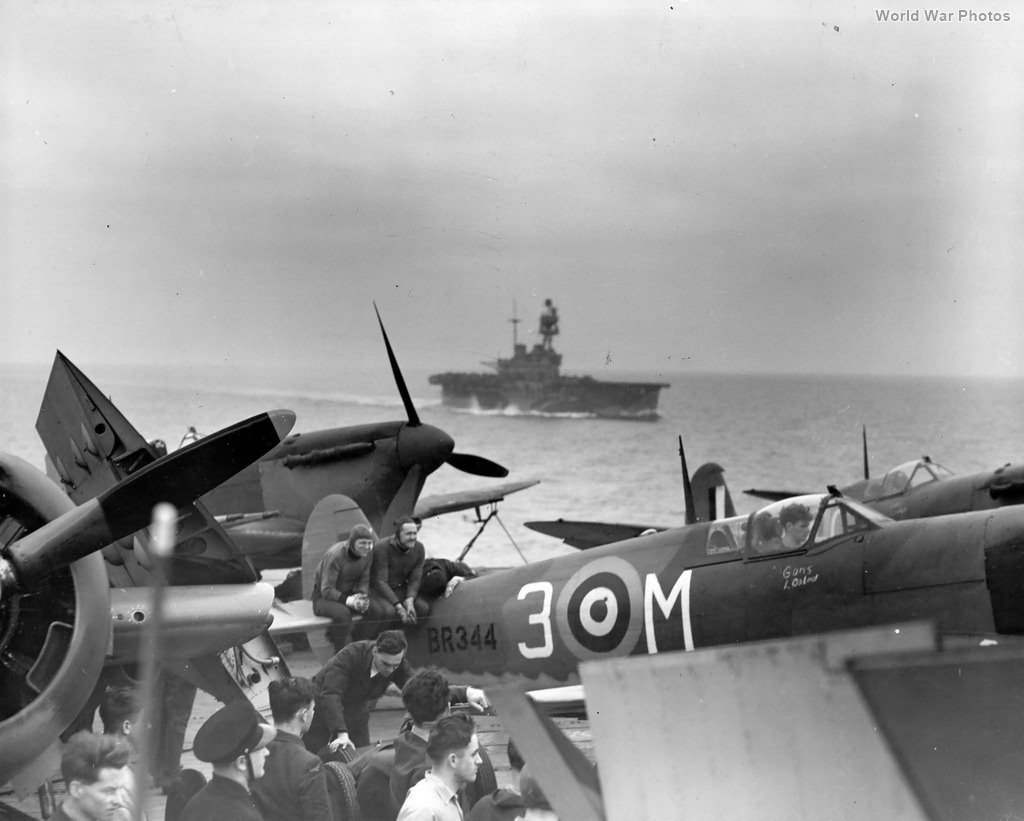 Spitfire Vc BR344 3-M USS Wasp 1942