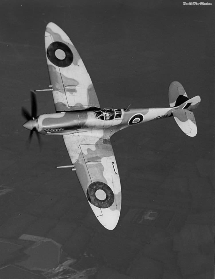Spitfire Mk VIII JC204 in Flight