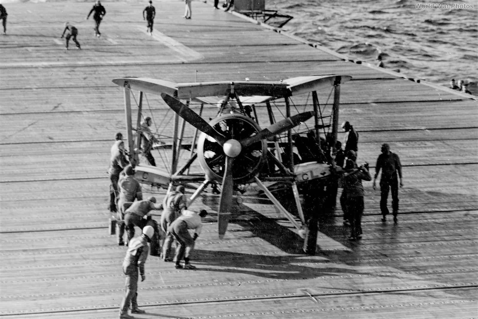Swordfish 812 Squadron Aboard USS Wasp April 1942