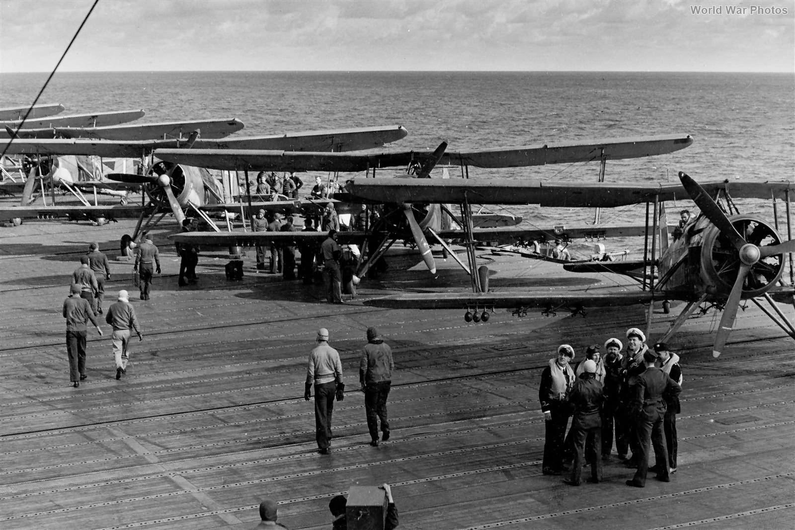 Swordfish 813 Squadron aboard USS Wasp 1942 2
