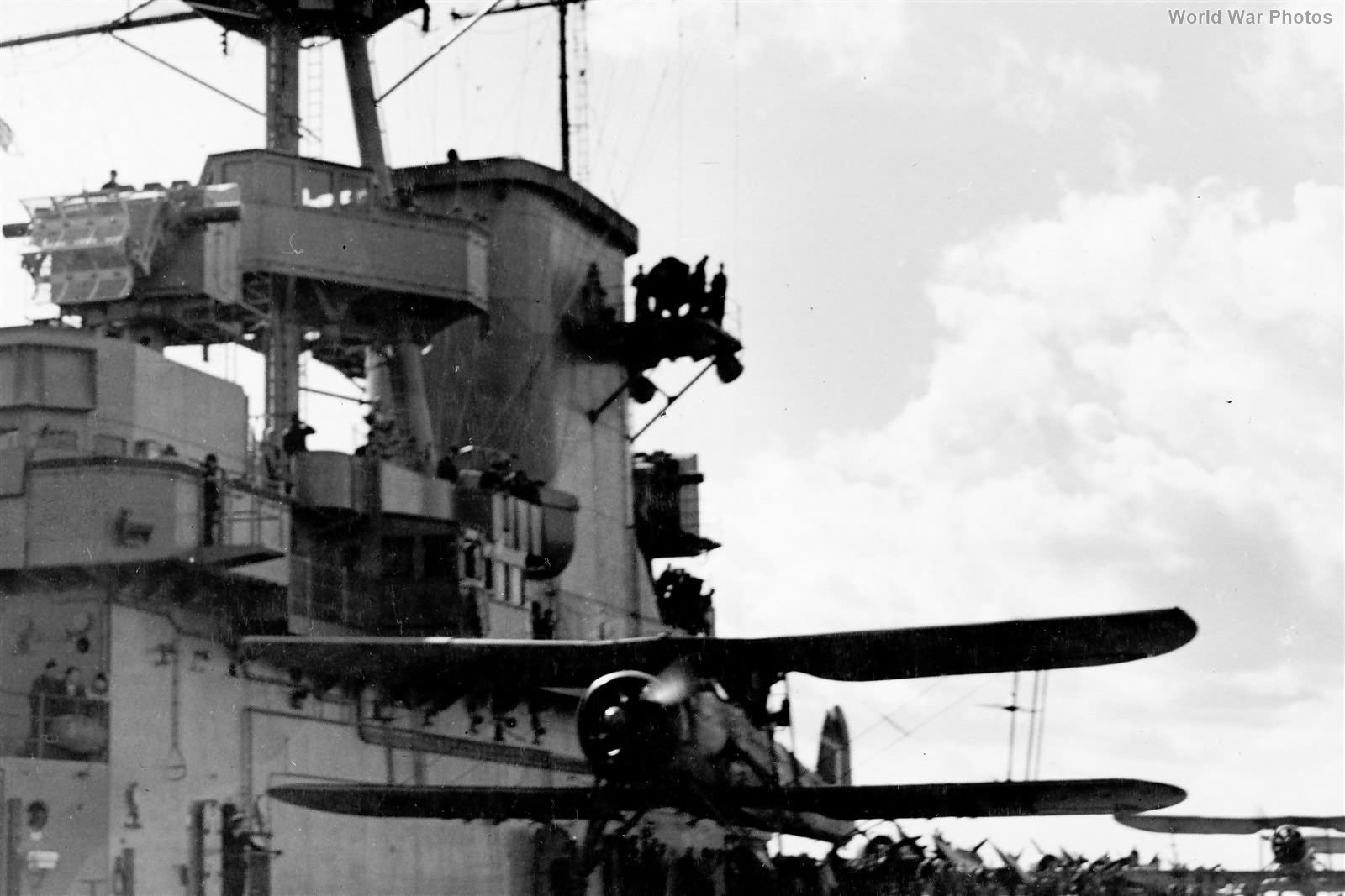 Swordfish 813 Squadron Takes Off From USS Wasp 18 April 1942