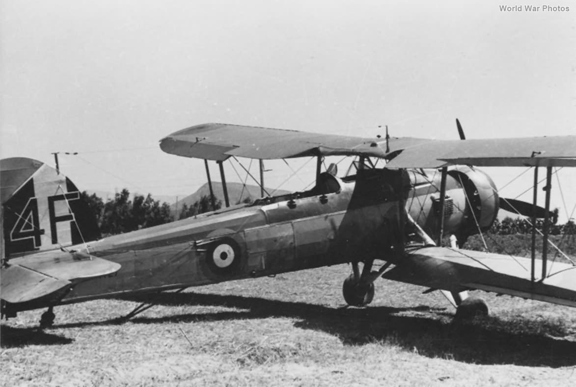 Captured Fairey Swordfish P4127 4F of 820 Naval Air Squadron, Sardinia 1940 2