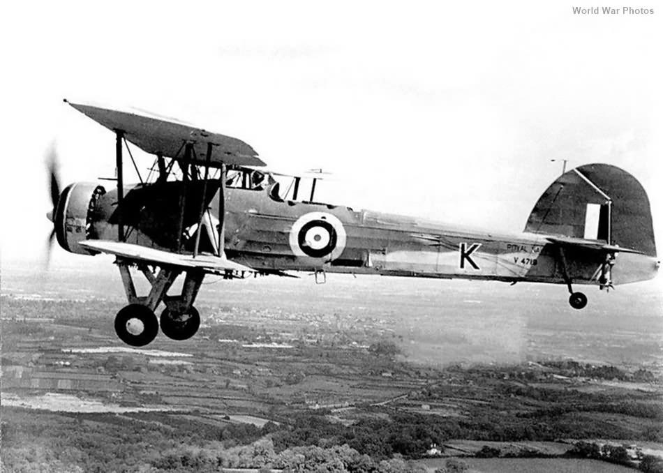 Fairey Swordfish V4719 over Nova Scotia