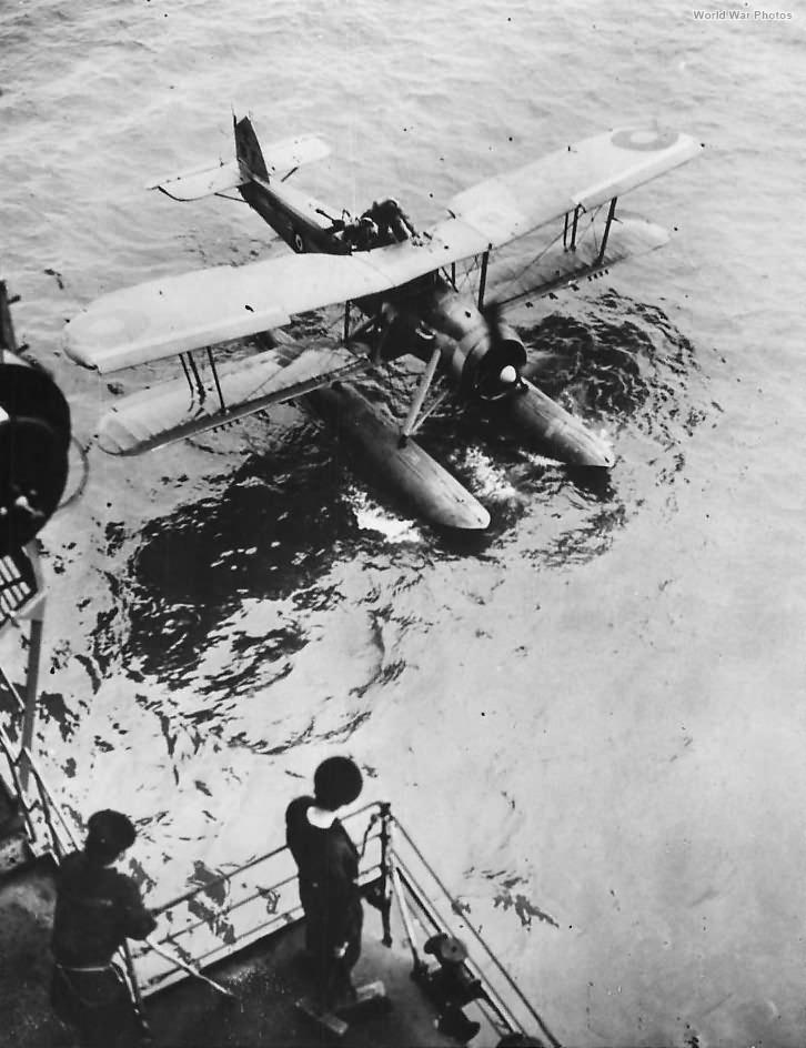 Swordfish being hoisted aboard Ark Royal 40