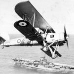 Swordfish L9781 650 over HMS Ark Royal