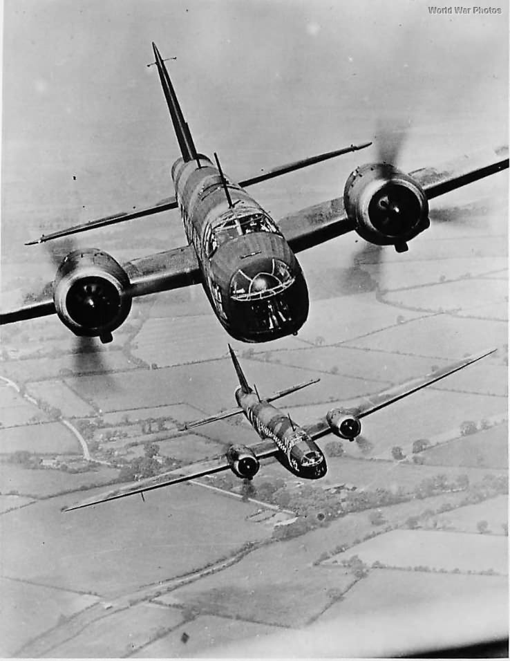 Vickers Wellington Bombers Flying in Formation 1940