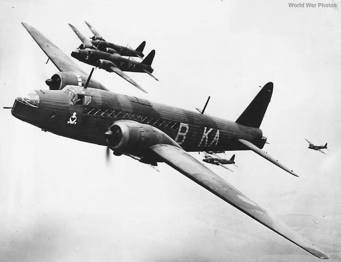 Vickers Wellington Bombers of No 9 Squadron