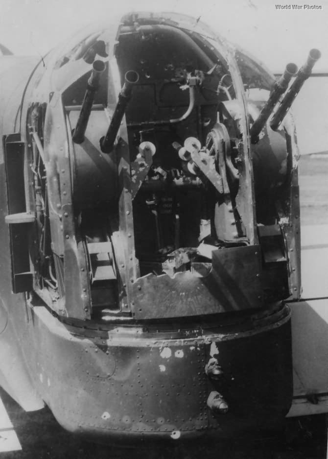 Wellington Damaged Rear Gun Turret