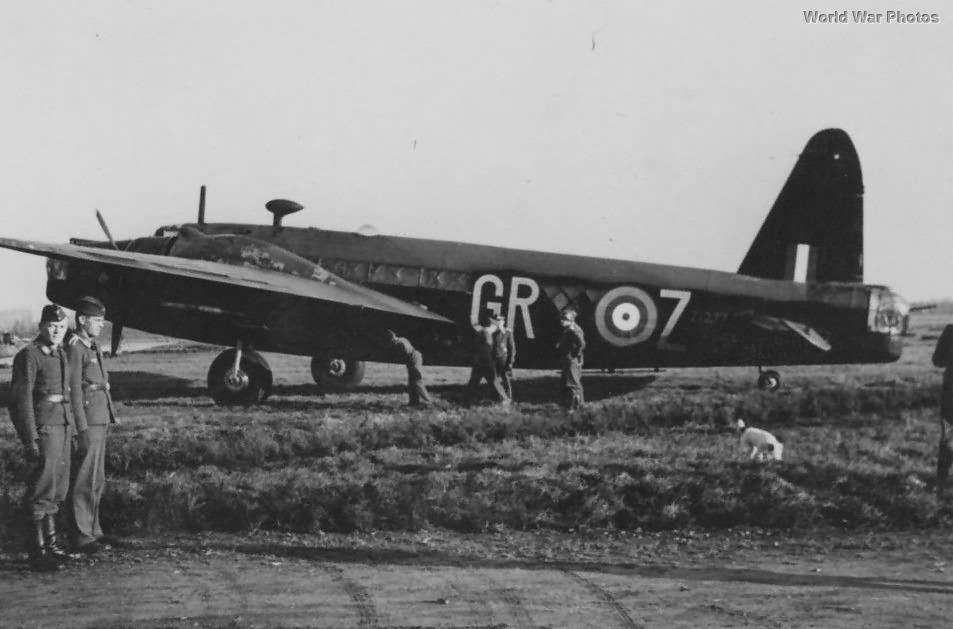 Captured Polish Wellington Mk IV Z1277 GR-Z