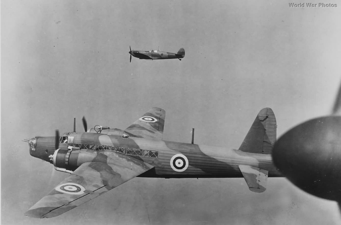 Early Vickers Wellington and Spitfire