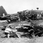 Crashed Wellington R1013 of No. 40 Squadron RAF