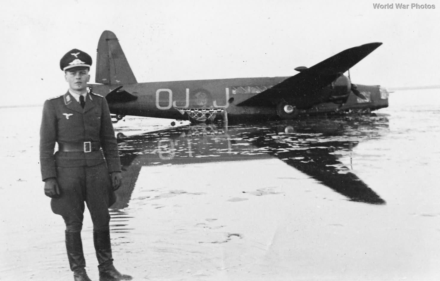 Wellington OJ-J 26 April 1940 Alborg force landed
