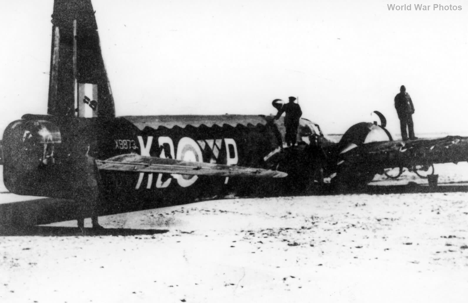 Crashed Wellington Mk IC X9873