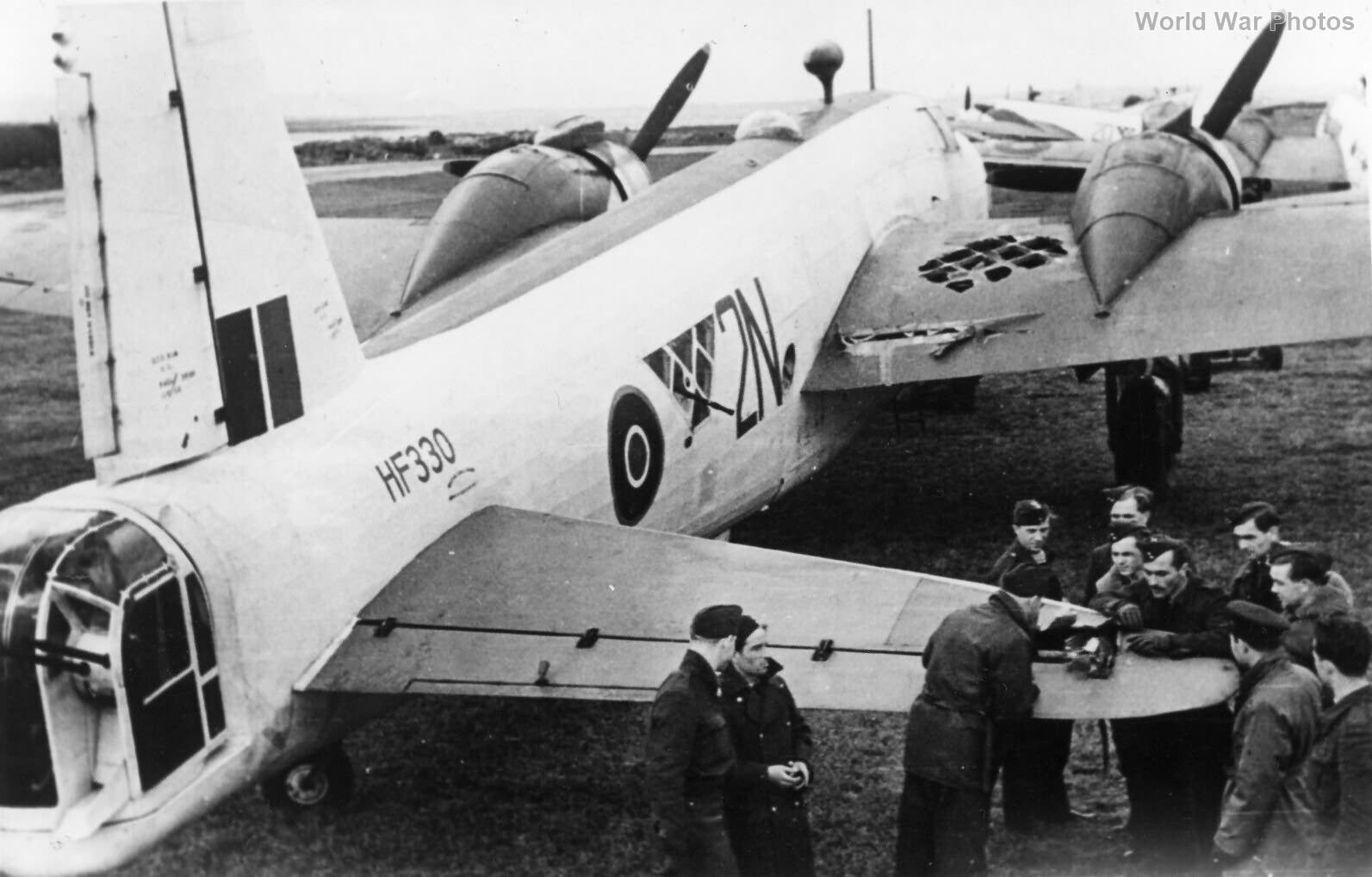 Wellington XIV 304 Sqn after attacking U-Boat