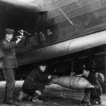 Armourers loading a 250lb bomb