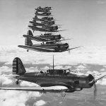 Northrop A-17A formation