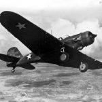 A-17 in flight
