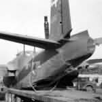 Crashed Douglas A-20 of 47th Bomb Group tail