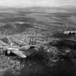 A-20 52 and 51 of the 47th Bombardment Group in flight