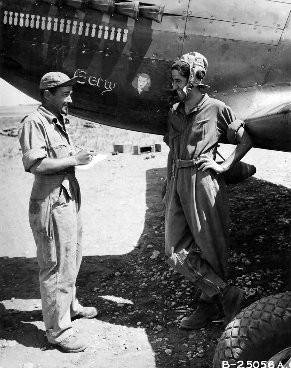 A-36 pilot 2lt Joseph Carparelli 522nd FBS 27th Fighter Bomber Group July 1943 Africa