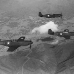 Formation of North American A-36 Apache in flight 1943