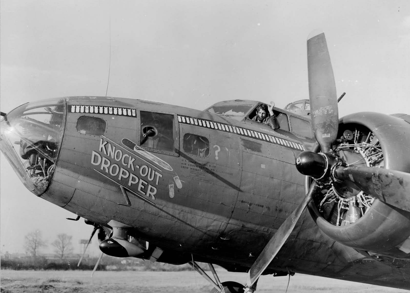 "Boeing B-17F-27-BO Flying Fortress 41-24605 303rd Bomb Group 359th BS ""Knock Out Dropper"" Molesworth England 1943"