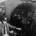 B-17 Flying Fortress of the 385th Bomb Group damaged after Schwienfurt Raid 1943