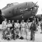 "Crew with Boeing B-17E ""Chief Seattle"" 41-2656 of the 435th Bombardment Squadron at 7 Mile Drome near Port Moresby, 1942"