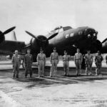 "Crew stands with B-17E Flying Fortress ""Tokyo Special"" 1942"