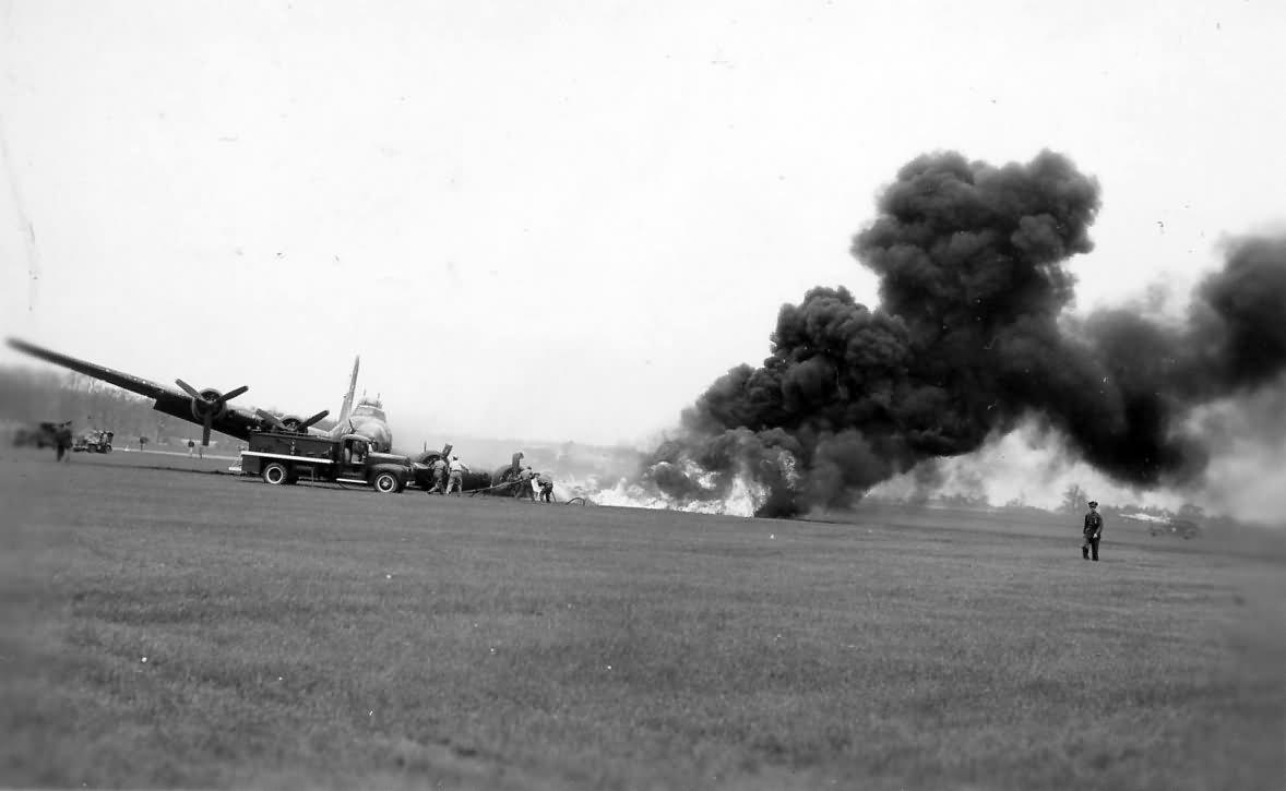 B-17 Crash and Fire 42-37789 2