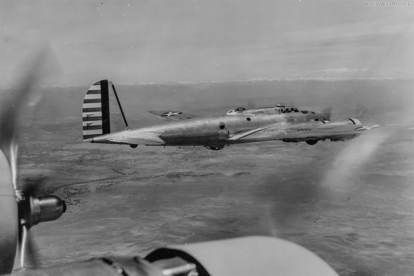 Y1B-17A in flight
