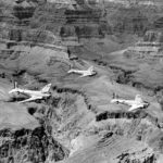 B-18A bombers of the 19th Bomb Group over the Grand Canyon 1939