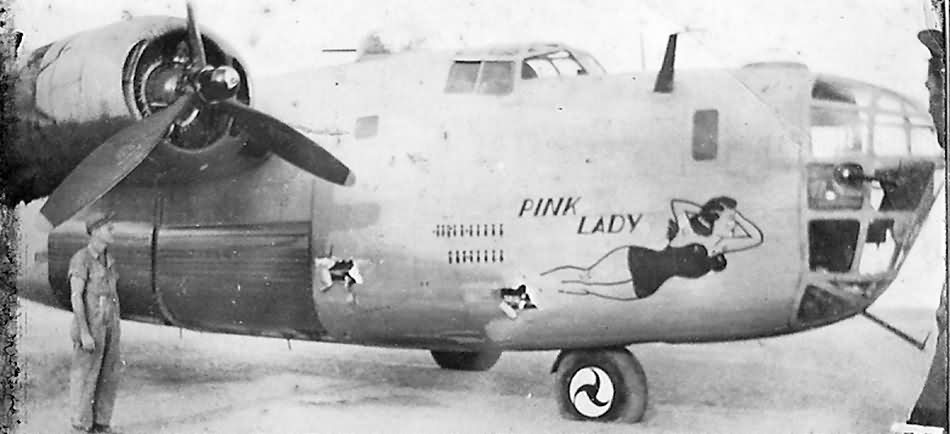 B 24D Liberator 41 11798 From 98th Bomb Group 415th Squadron Pink Lady