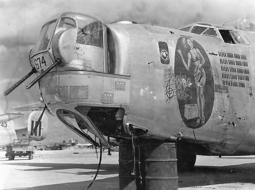 """B-24J #674 44-40674 """"Going My Way"""" of the 11th Bomb Group, 431st Bomb Squadron"""