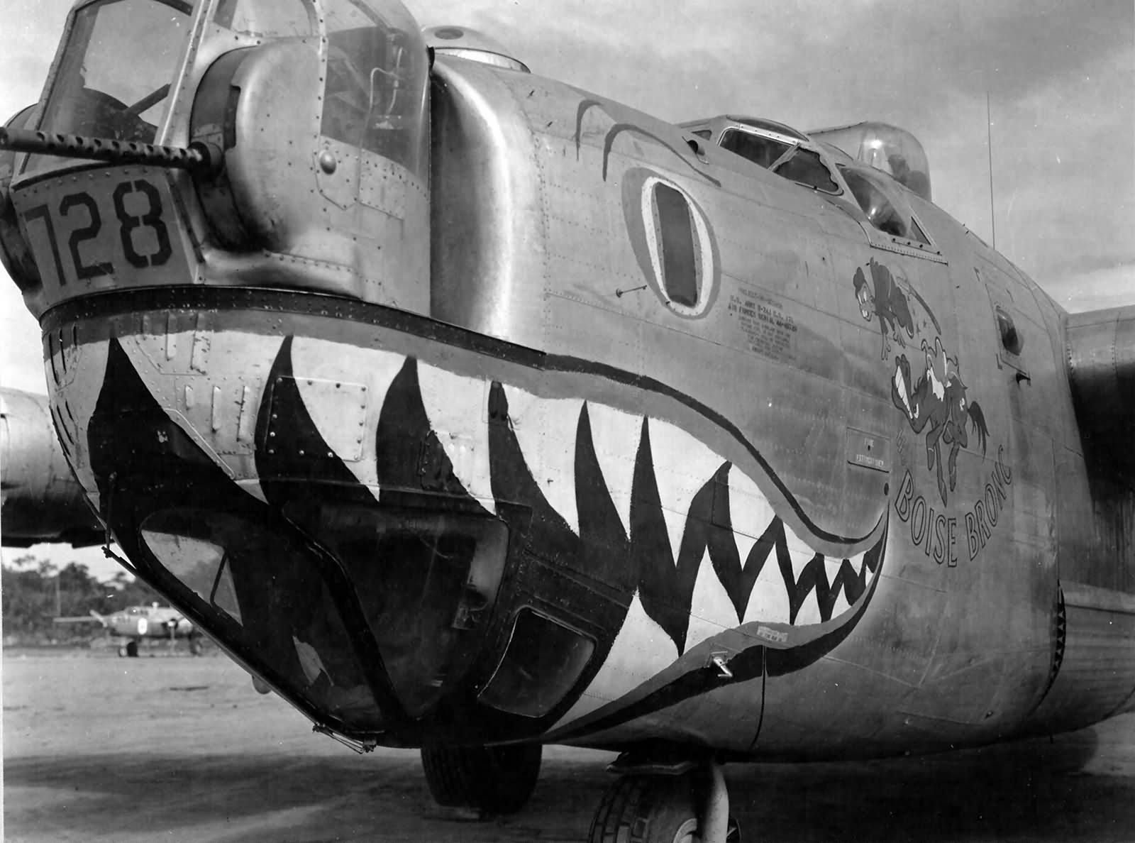 "B-24J Liberator serial 44-40728 ""Boise Bronc"" of the 320th Bomb Squadron, 90th Bomb Group"