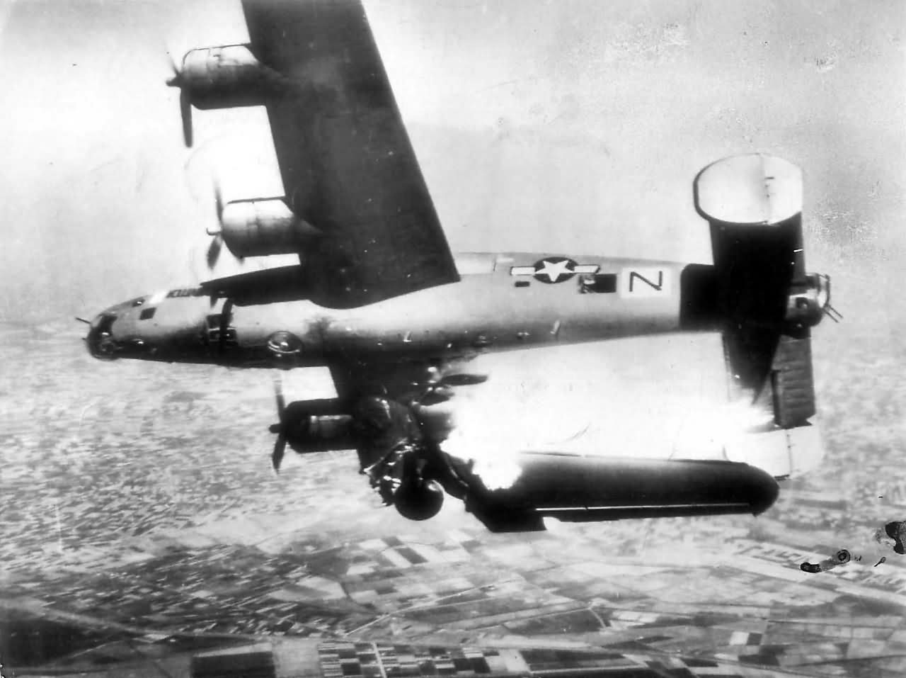 "B-24 Liberator ""Black Nan / STEVONOVITCH II"" 44-49710 of 779th BS, 464th Bomb Group, shot down over Italy – 10 April 1945"