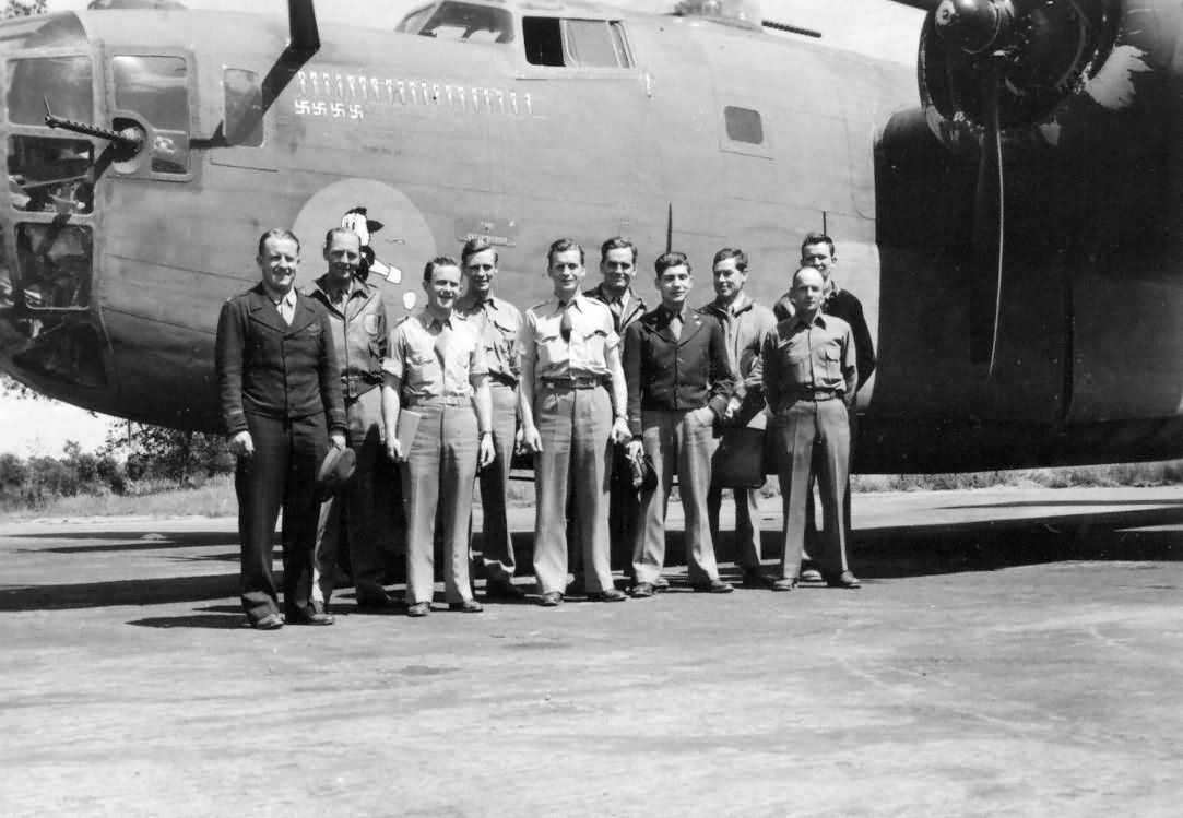 B-24 Liberator bomber Nose Art and Crew 93rd Bomb Group 8th