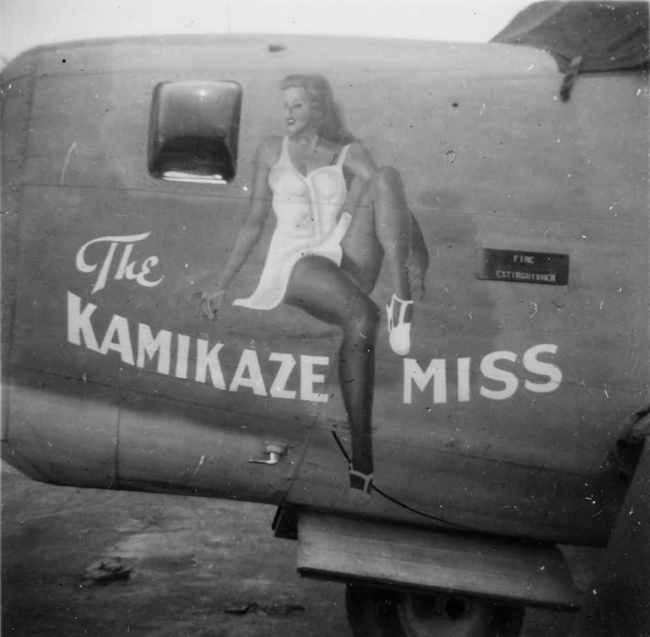B 24 Bomber Nose Art The Kamikaze Miss